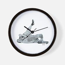 Wrestling Pin Cradle Wall Clock