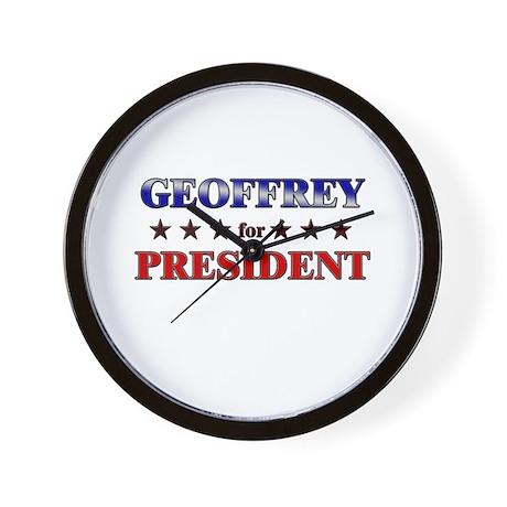 GEOFFREY for president Wall Clock