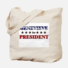 GENEVIEVE for president Tote Bag