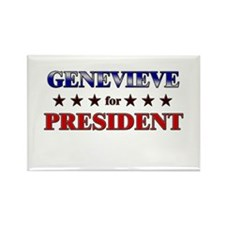 GENEVIEVE for president Rectangle Magnet