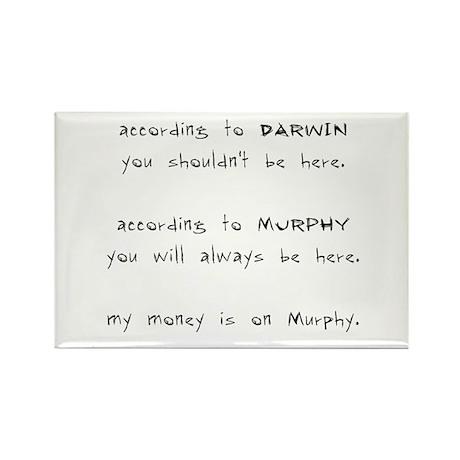 Murphy vs. Darwin Rectangle Magnet (10 pack)