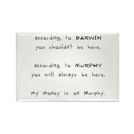 Murphy vs. Darwin Rectangle Magnet (100 pack)
