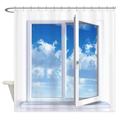 Window Shower Curtain By YourLuggage