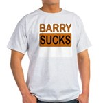 Barry Sucks Logo Ash Grey T-Shirt