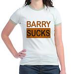 Barry Sucks Logo Jr. Ringer T-Shirt