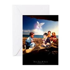 Children At Beach - Greeting Cards (Pk of 10)
