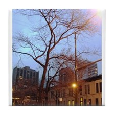 Chicago Tree Tile Coaster