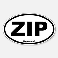 Zipperhead Oval Decal