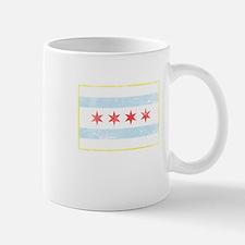 Vintage Distressed Chicago Flag Mugs