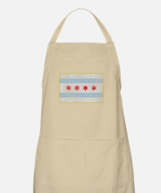 Vintage Distressed Chicago Flag Apron