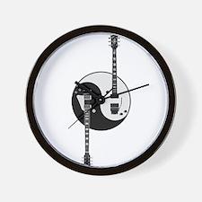 Yin Yang Guitars Wall Clock