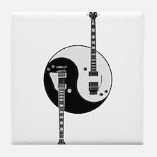 Yin Yang Guitars Tile Coaster