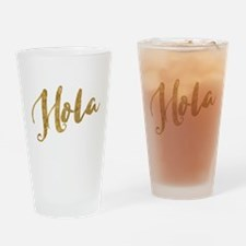 Golden Look Hola Drinking Glass