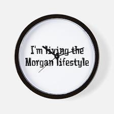 Living the Morgan Lifestyle Wall Clock