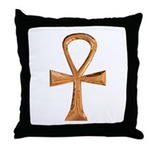 Egyptian Ankh Throw Pillow