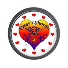 Deaf Children Hear... Wall Clock