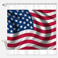 USA Flag Shower Curtain