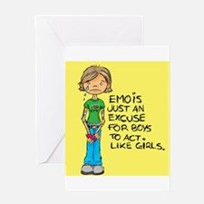 Emo Is Just An Excuse For Boy Greeting Card