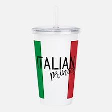 italian_princess.png Acrylic Double-wall Tumbler