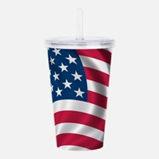 USA Flag Acrylic Double-wall Tumbler