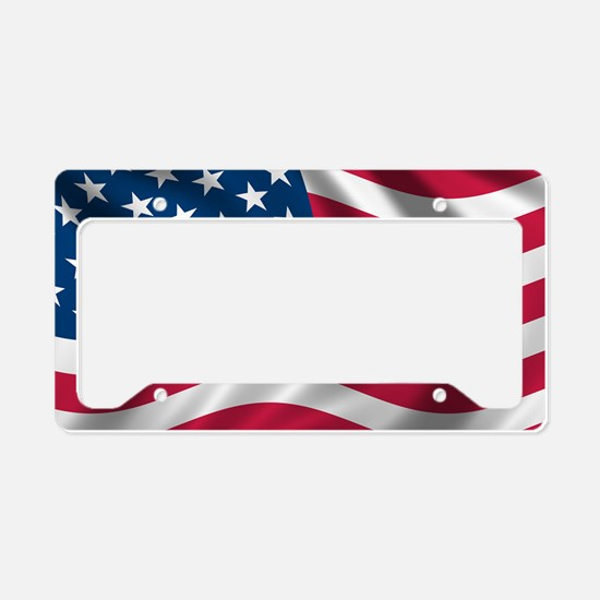 USA Flag License Plate Holder