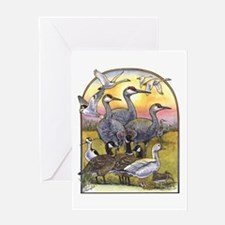 Central Valley Winter Birds Greeting Card