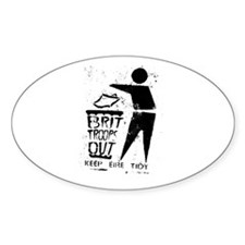 brit troops out Decal