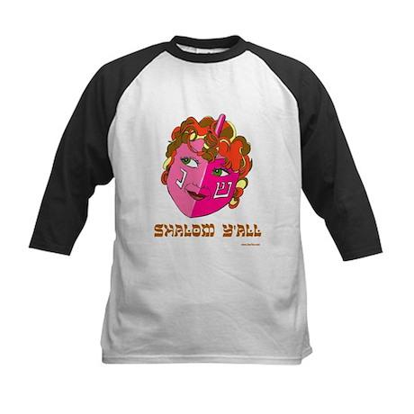 Shalom Y'all Dreidel Kids Baseball Jersey