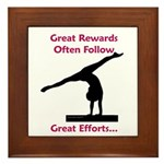 Gymnastics Framed Tile - Rewards