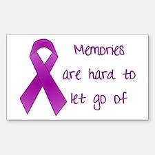 Alzheimers Awareness Rectangle Decal