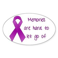 Alzheimers Awareness Oval Decal