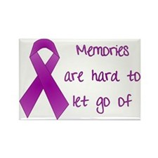 Alzheimers Awareness Rectangle Magnet