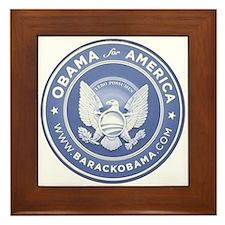 Cool Obama logo Framed Tile