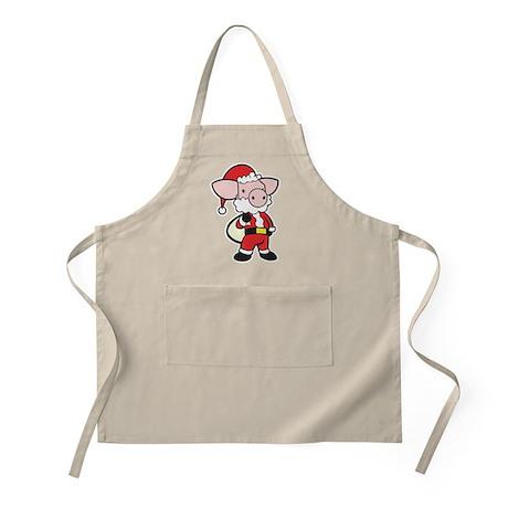 Santa Pig BBQ Apron