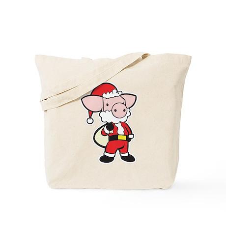 Santa Pig Tote Bag