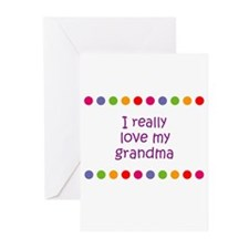 I really love my grandma Greeting Cards (Pk of 10)