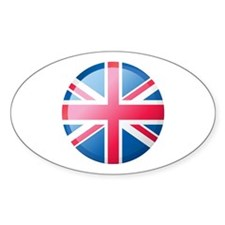 UK BUTTON Oval Decal