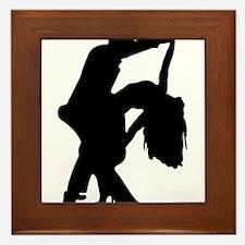Romantic Couple Dance Framed Tile