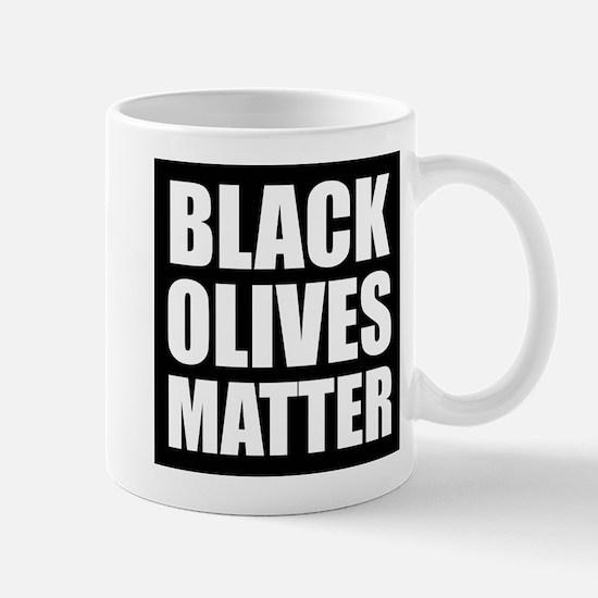 Black Olives Matter Mugs