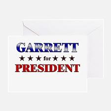 GARRETT for president Greeting Card