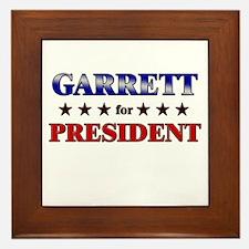 GARRETT for president Framed Tile