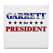 GARRETT for president Tile Coaster