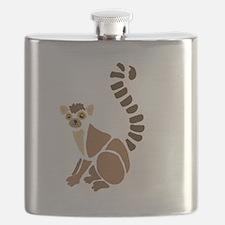 Cute Lemur Flask