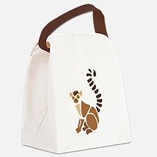 Cute Lemur Canvas Lunch Bag