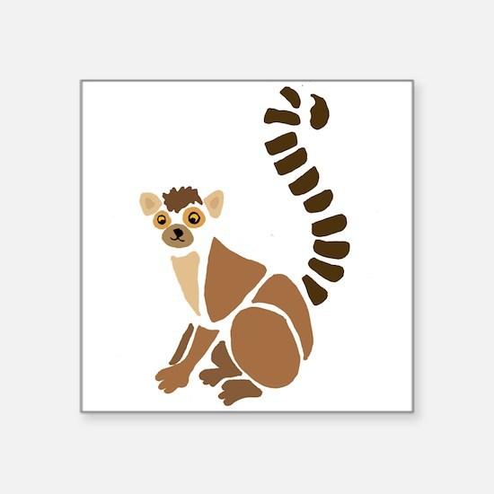 Funky Lemur Art Sticker