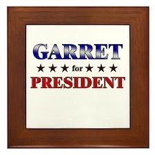 GARRET for president Framed Tile