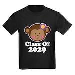Class Of 2029 Girls Monkey T-Shirt