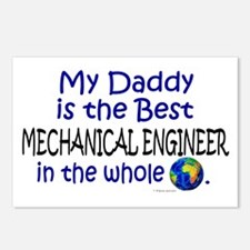 Best Mechanical Engineer (Daddy) Postcards (Packag