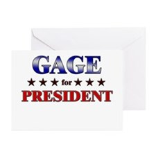 GAGE for president Greeting Cards (Pk of 20)