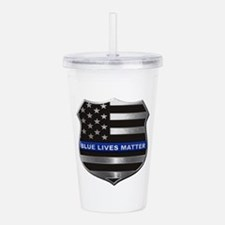 Blue Lives Matter Acrylic Double-wall Tumbler